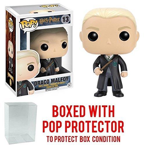 Funko Pop! Movies: Harry Potter - Draco Malfoy #13 Vinyl Figure (Bundled with Pop BOX PROTECTOR CASE)