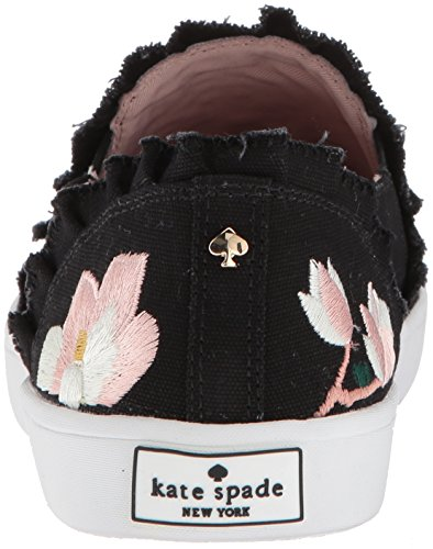 Leonie kate Women's york spade Linen Sneaker Black new fqwUfrnI