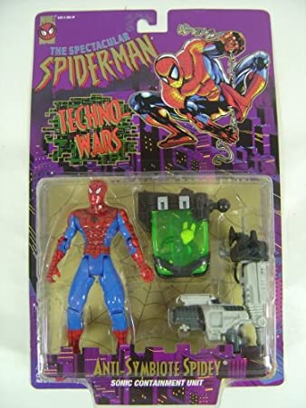 Spider-Man Techno-wars: Anti-symbiote Spidey Action Figure: Amazon.es: Juguetes y juegos