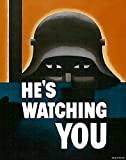 UpCrafts Studio Design WW1 anti German Propaganda Poster 11.7 x 16.5 - HE'S WATCHING YOU - WWI Military Decorations for Bedrooms, Wall Art for Living Room