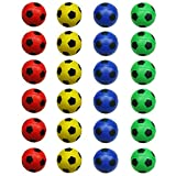 24 Counts Colorful Mini Soccer Football Stress Ball, Mixed Color Mini Foam Squeeze Sports Ball Toys for Kids Fun Party Favors Anxiety Relief