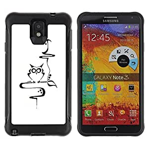 Suave TPU Caso Carcasa de Caucho Funda para Samsung Note 3 / Teacher Smart Minimalist School / STRONG