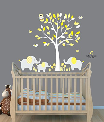 Baby Nursery/Kid Room Wall Decals (Elephants with Tree, lots of designs to choose from)