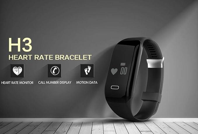 ... Pulsera Deportiva y Monitor de Ritmo Cardíaco Monitor de Actividad para Mujer Hombre Impermeable IP65 Reloj Fitness Podómetro,Sueño,Notificación de SMS ...
