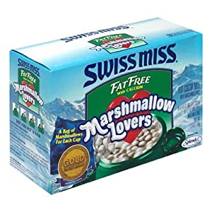 Swiss Miss Hot Cocoa Mix, Fat Free, Marshmallow Lovers, 8-Count Envelopes (Pack of 8)