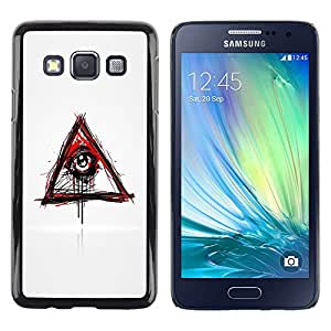 Impact Case Cover with Art Pattern Designs FOR Samsung Galaxy A3 Evil Bleeding Eye Illuminati Betty shop