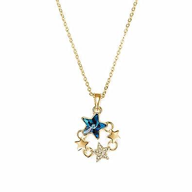 Nevi star fashion crystals from swarovski gold plated princess nevi star fashion crystals from swarovski gold plated princess pendant chain jewellery for women girls aloadofball Gallery