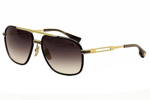10976d2e041 Dita victoire gold shiny black pilot sunglasses jpg 569x379 Dita victoire  sunglasses
