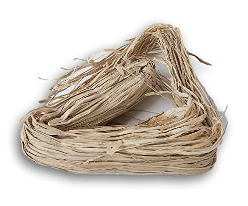 - Natural Raffia Long-Stranded Fiber for Arts and Crafts - Large 6 Oz Bunch