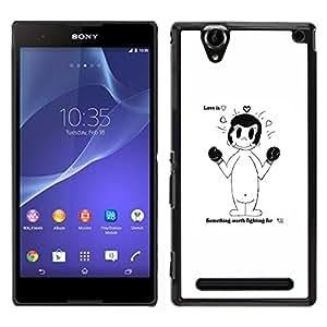 LECELL--Funda protectora / Cubierta / Piel For Sony Xperia T2 Ultra -- Amor es --