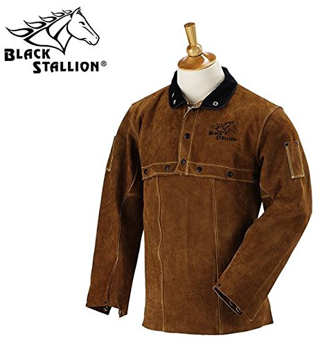 Revco Black Stallion Split Cowhide Cape Sleeves and 20'' Bib Combo #220CS Size - 2X Large by Revco (Image #1)