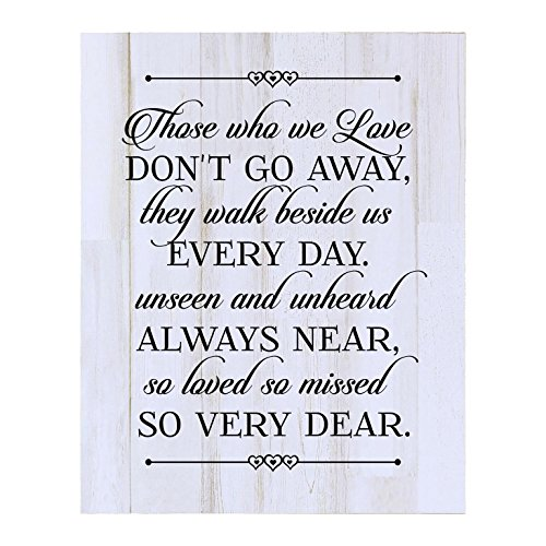 Memorial Wall Plaque - LifeSong Milestones Memorial gift for loss of loved one, Mother, Father, Wife, Husband, Son, Daughter Sympathy gift ideas wall plaque Those Who We Love size 12 x 15 by (White Distressed)