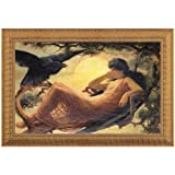Design Toscano The Night Raven Sings Canvas Replica Painting: Grande