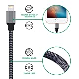 6 feet long iphone 6 charger - Eashion iPhone Charger, 6FT Lightning Cable Extra Long 8pin Nylon Braided Lightning to USB Cable Charging Cord for iPhone X 8 plus 8 7 plus 7 6 plus 6s 5 5s SE /iPad and iPod(Carbon Black)