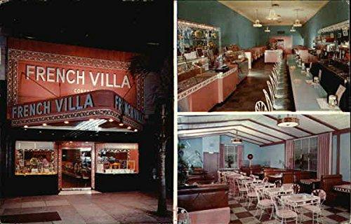 French Villa Confectionery Pasadena, California Original Vintage Postcard