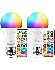 iLC Edison E27 Ledlamp, vervangt 85 W, 1050 lumen, RGB-gloeilamp met afstandsbediening, kleurwisselende lamp, warmwit (2700 Kelvin), verpakking van 2 stuks