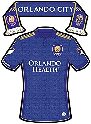 sports shoes b7bc9 4a7ed Amazon.com: Orlando City SC Sticker Team Jersey & Scarf ...