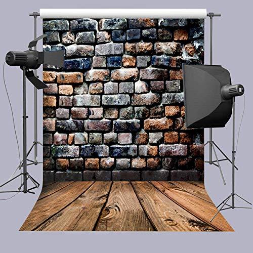 Daniu Wooden Floor Background For Studio Brick Wall Photography Backdrops Vinyl 5x7FT 150cm X 210cm Daniu-JP028