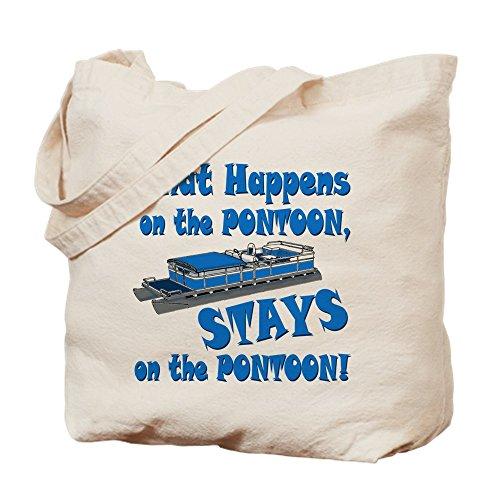 Pontoon Carry Bag (CafePress - On The Pontoon - Natural Canvas Tote Bag, Cloth Shopping Bag)