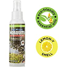 All Natural Bug Spray - Non-Toxic Mosquito & Insect Repellent - DEET Free, Lemongrass Essential Oils Formula - Great for Backyards, Adults, Kids, Babies and Safe for Pets - Eagle Watch (3.3oz)