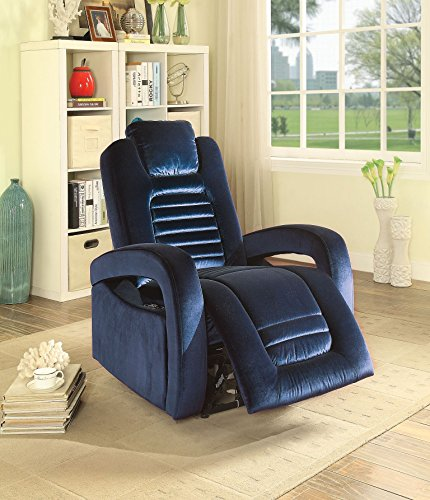 Major-Q Contemporary Style Pocket Coil Recliner with Button Charge Dock