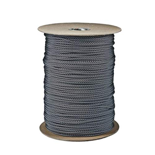 SGT KNOTS Paracord 550 Type III 7 Strand - 100% Nylon Core and Shell 550 lb Tensile Strength Utility Parachute Cord for Crafting, Tie-Downs, Camping, Handle Wraps (Silver Diamonds - 50 ft)