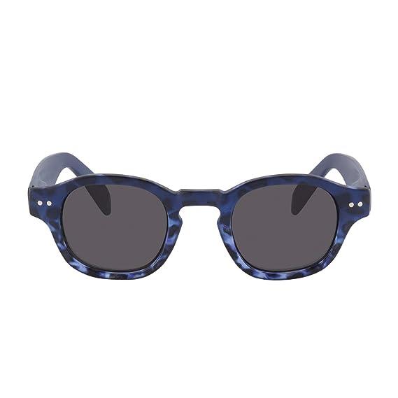 ac7efac64baf5 Lunettes de soleil vintage catégorie 3 protection 100% UV-A UV-B Read Loop  Sunrise Everglades design sans correction pour Homme et Femme avec étui en  ...