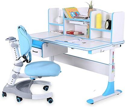 Juego de escritorio y silla para niños, altura ajustable y ...