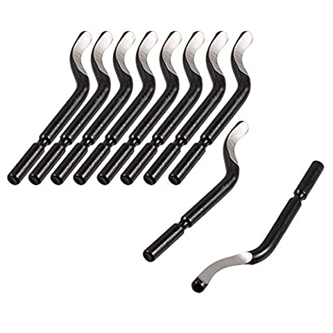 Adiyer BS1010 S10 Repair Part Deburred Tool HSS Deburring Blades Cutters, 3.2mm, 10-Piece - Deburring Tool