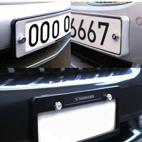 Chrome Metal nismo Sports Style Car License Plate Frame Universal Bolt Screws For nissan bleqi.co.ltd
