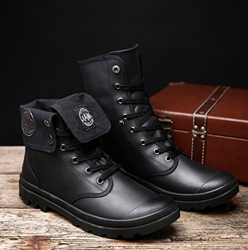 Botas Nieve Negro Otoño Lazada Botas Hombre B Martin Zapatos Moda Anti Retro de Invierno Boots Invierno deslizante Botines Minetom ZATwO