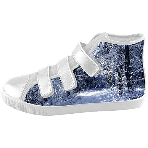 Custom Kid's Shoes Winter Snow New Velcro High Top Canvas