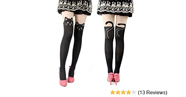 674443157 Amazon.com  Cute and Sexy Knee High Socks Pantyhose Stockings Tattoo Tights  (Black Cat)  Health   Personal Care