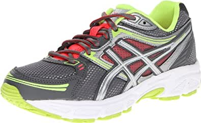 ASICS Women's GEL-Contend Running Shoe,Titanium/Lightning/Flash Yellow,5 M US