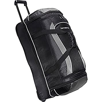 fde83de581 Image Unavailable. Image not available for. Color  Samsonite Andante  28 quot  Drop Bottom Wheeled Duffle Black Grey