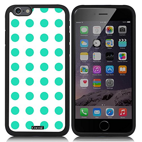 CocoZ? New Apple iPhone 6 s 4.7-inch Case Beautiful Mint Green Polka Dot Pattern TPU Material Case (Black TPU & Polka Dot - Chromes Ande Accessories
