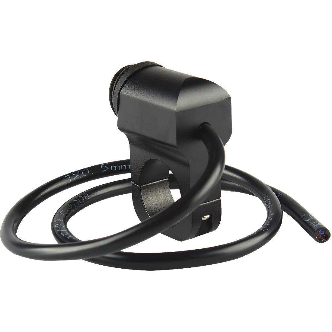 Andux Zone Interrupteur de phare de guidon 25mm avec voyant pour moto SBKG-01 Noir, /étanche 16a