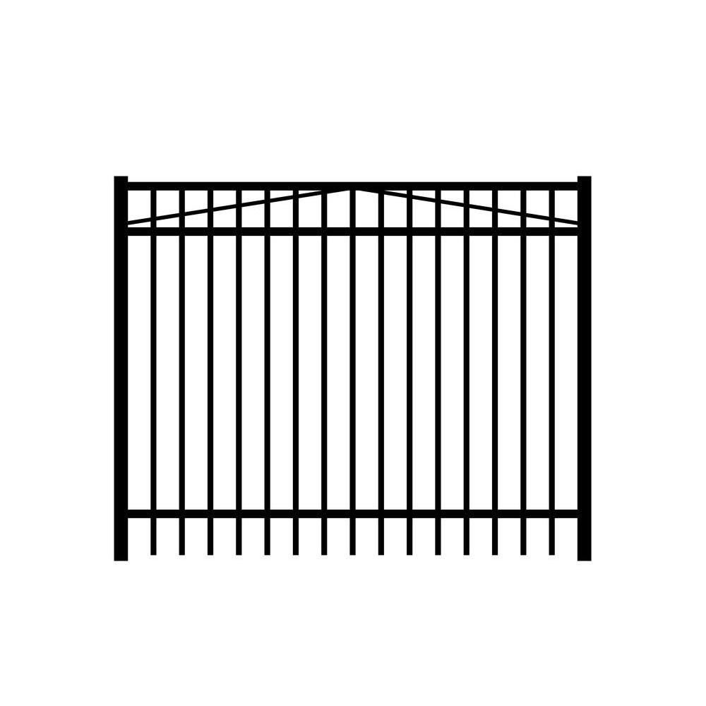 Jefferson 6 ft. x 3 ft. Single Walk Aluminum Black Gate