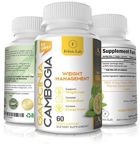 Garcinia Cambogia 100% Pure Extract. Appetite Suppressant. Fast Acting Best Weight Loss Pills for Women & Men. Extreme Fat Burner & Carb Blocker Supplement to get Slim Fast. All Natural
