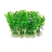 Uxcell Jardin 10-Piece Decorative Plant Grass Aquarium Ornament, Green