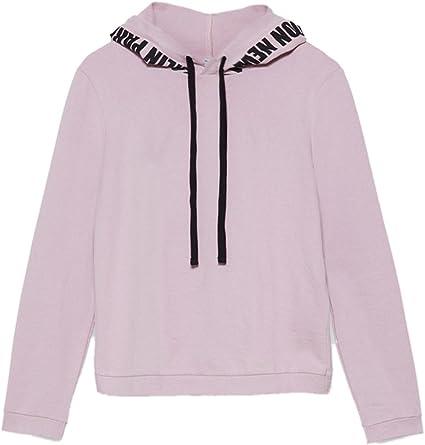 Motivi - Sudadera en Tela de Punto perchada 100% algodón, Mujer, Rosa, S: Amazon.es: Ropa y accesorios