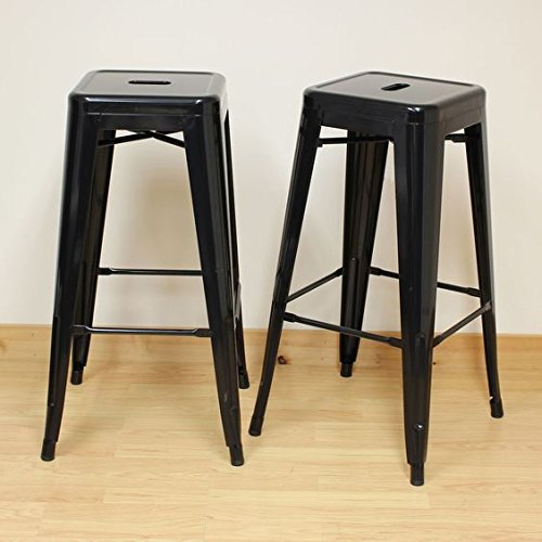 26 Inch Backless Metal Counter Height Bar Stools (set Of 4