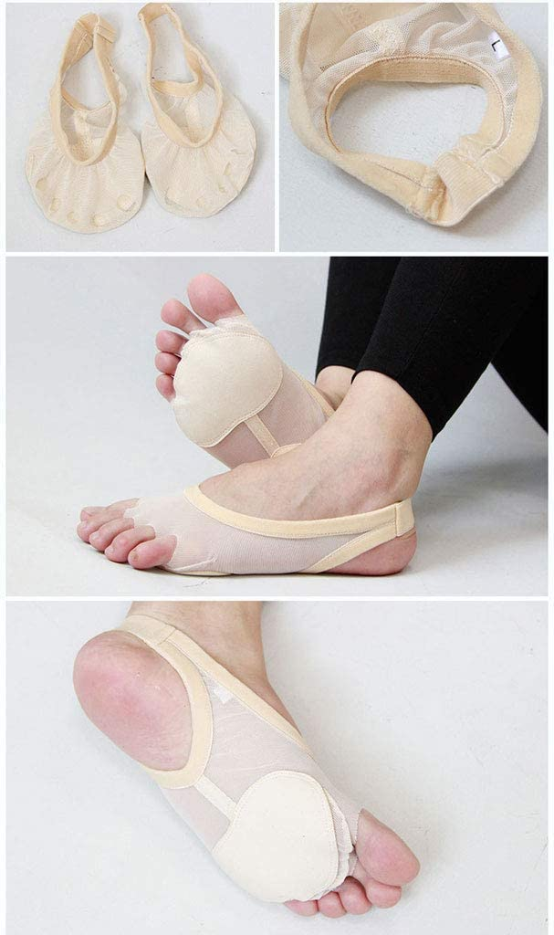 YCYEER Belly Ballet Dance Toe Pad Foot Thong Protecci/ón Dance Cinco Hoyos Calcetines Zapatos