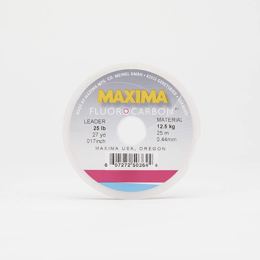 Maxima Fishing Line Leader Wheel, Fluorocarbon, 25-Pound, 27-Yard