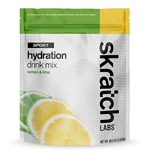 SKRATCH LABS Sport Hydration Drink Mix, Lemon and Lime, 60 serving resealable bag (non-GMO, dairy free, gluten free, kosher, vegan)