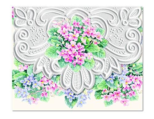 (Carol's Rose Garden African Violets Blank 10 Card Set Portfolio)