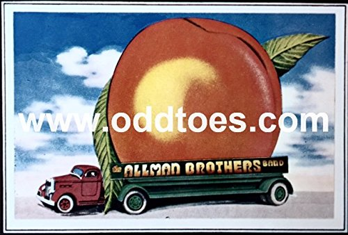 (oddtoes concert posters and music memorabilia The Allman Brothers Band Vintage Eat a Peach Promotional Folder 1972)