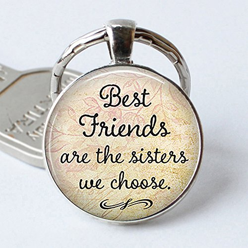Chain Plaques - Bluelans BBF Best Friends Keychain Best Friends are The Sisters we Choose Key Ring Chain Friendship Gift Silver