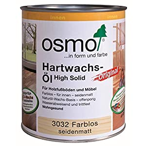 Osmo 3032 C 0.75 litri Polyx olio di cera dura – trasparente satinato 11 spesavip