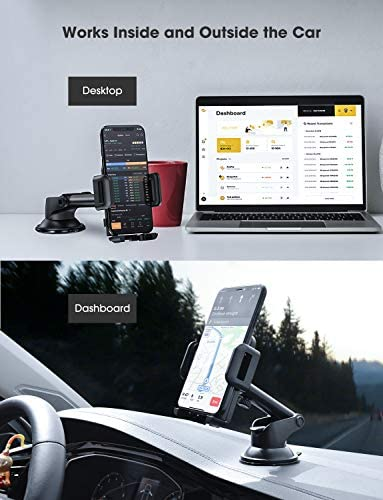 Mpow Car Phone Mount,Washable Strong Sticky Gel Pad with One-Touch Design Dashboard Car Phone Holder for iPhone 8/8Plus/7/7Plus/6s/6Plus/5S, Galaxy S5/S6/S7/S8, Google Nexus, LG, Huawei and More 51VATCBjgjL